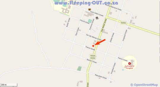 Map Jack of the Karoo in Sutherland  Hantam Karoo  Northern Cape  Suid-Afrika
