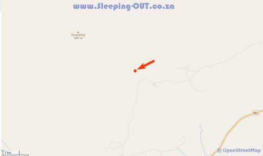 Map Rietfontein Guest Farm in Ladismith  Klein Karoo  Western Cape  South Africa