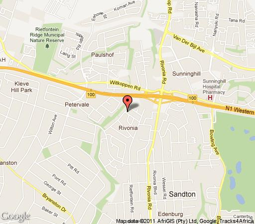 Map Chislehurst Guest House in Rivonia  Sandton  Johannesburg  Gauteng  South Africa