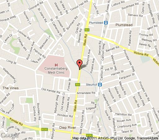 Map Constantia Valley View in Constantia (CPT)  Southern Suburbs (CPT)  Cape Town  Western Cape  South Africa