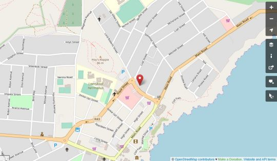 Map Barford Haven Self Catering in Hermanus  Overberg  Western Cape  South Africa