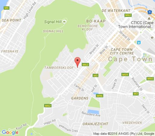 Map Underberg  House in Tamboerskloof  City Bowl  Cape Town  Western Cape  South Africa