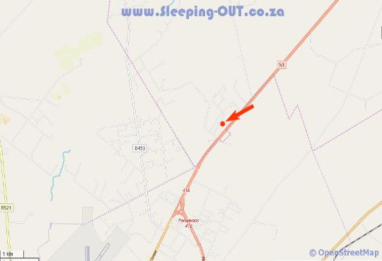 Map Accommodation Far north affordable self-catering in Polokwane  Capricorn  Limpopo  South Africa