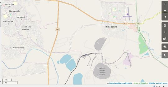 Map Garonga Safari Camp in Phalaborwa  Valley of the Olifants  Limpopo  South Africa