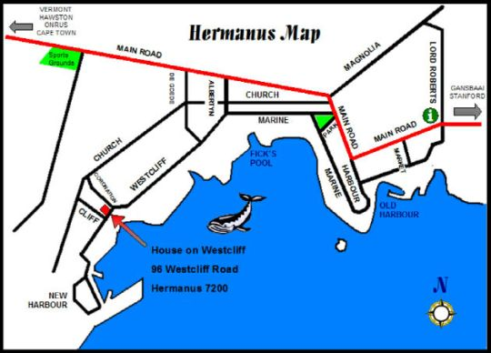Map House On Westcliff in Hermanus  Overberg  Western Cape  South Africa