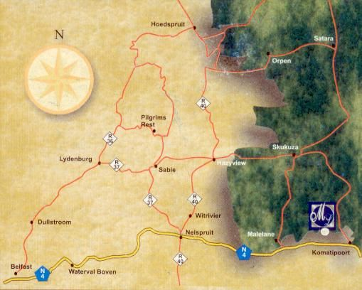 Map Maqueda Lodge in Marloth Park  Kruger National Park (MP)  Mpumalanga  South Africa