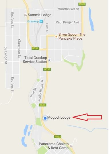 Map Mogodi Lodge  in Graskop  The Panorama  Mpumalanga  South Africa