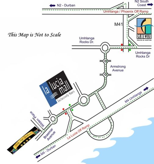 Map Ballyhigh B&B in La Lucia  Northern Suburbs (DBN)  Durban and Surrounds  KwaZulu Natal  South Africa