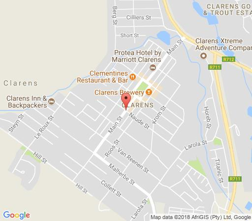 Map Rosewood Corner  in Clarens  Thabo Mofutsanyana  Free State  South Africa