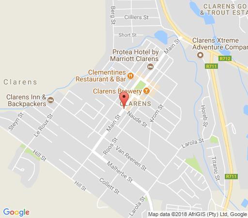 Map Rosewood Corner B&B in Clarens  Thabo Mofutsanyana  Free State  South Africa