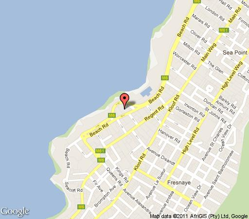 Map Seafront Luxury Apartment  in Sea Point  Atlantic Seaboard  Cape Town  Western Cape  South Africa