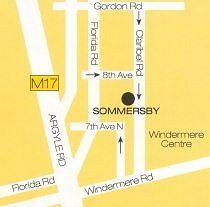Map Sommersby Bed & Breakfast in Morningside (DBN)  Durban  Durban and Surrounds  KwaZulu Natal  South Africa