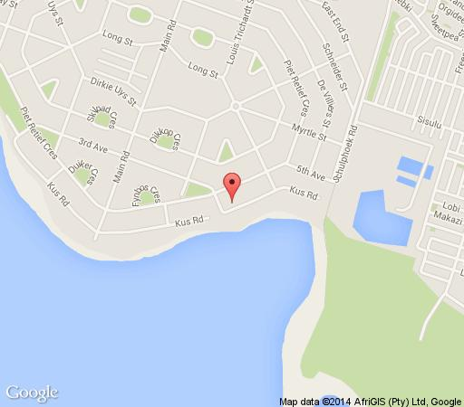 Map Schulphoek Seafront Guesthouse & Restaurant in Hermanus  Overberg  Western Cape  South Africa