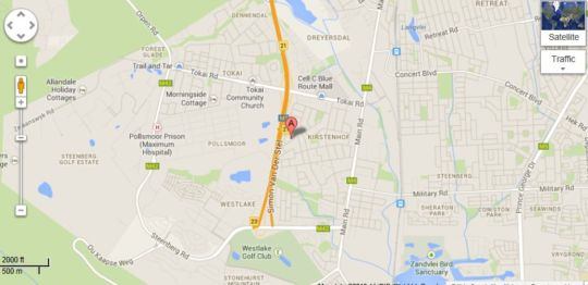 Map Scott Haven in Kirstenhof  Southern Suburbs (CPT)  Cape Town  Western Cape  South Africa