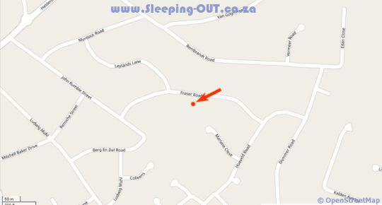 Map African Dreams Guest House  in Somerset West  Helderberg  Western Cape  South Africa