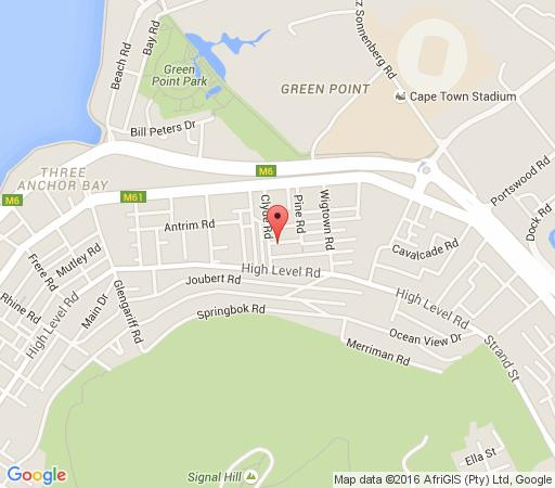 Map Braeside B&B in Green Point  Atlantic Seaboard  Cape Town  Western Cape  South Africa