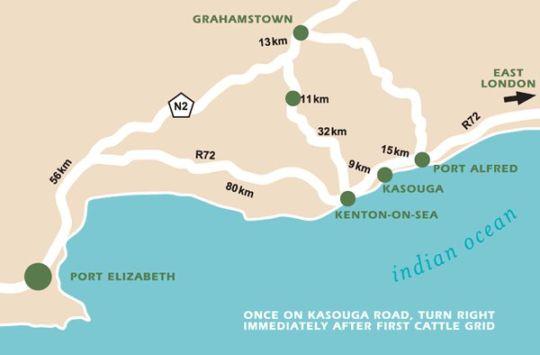 Map Oribi Haven in Port Alfred  Cacadu (Sarah Baartman)  Eastern Cape  South Africa