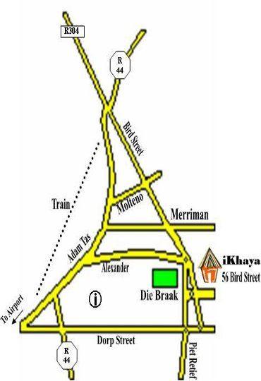 Map iKhaya Stellenbosch Backpackers in Stellenbosch  Cape Winelands  Western Cape  South Africa