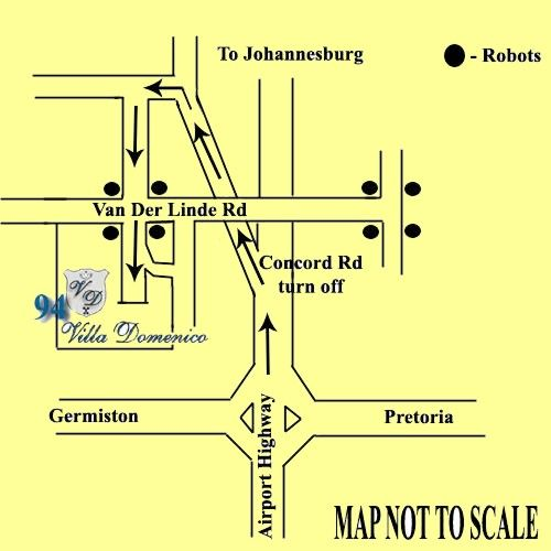 Map Villa Domenico in Bedfordview  Ekurhuleni (East Rand)  Gauteng  South Africa