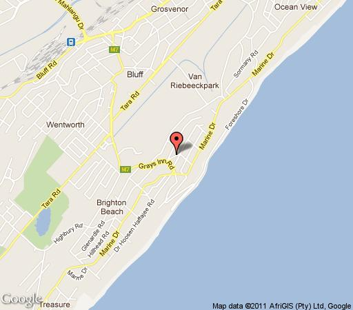 Map Dancing Dolphin in Brighton Beach  Durban  Durban and Surrounds  KwaZulu Natal  South Africa