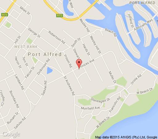Map Sheilan House in Port Alfred  Cacadu (Sarah Baartman)  Eastern Cape  Südafrika