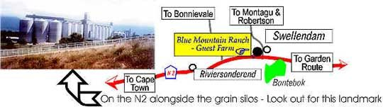 Map SwelleN2 Farm Lodge in Swellendam  Overberg  Western Cape  South Africa