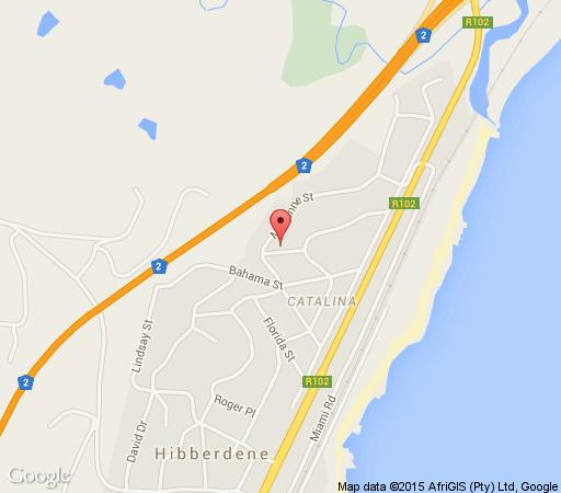 Map Forestwalk  in Hibberdene  South Coast (KZN)  KwaZulu Natal  South Africa