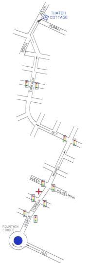 Map The Thatch Cottage in Brooklyn (PTA)  Pretoria Central  Pretoria / Tshwane  Gauteng  South Africa