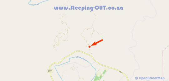 Map Gonjah Chalet, Campsite and 4X4 Route in Patensie  Cacadu (Sarah Baartman)  Eastern Cape  South Africa