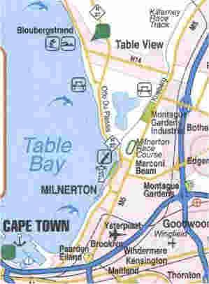 Map Nautica Seaview Apartments in Bloubergstrand  Blaauwberg  Cape Town  Western Cape  South Africa