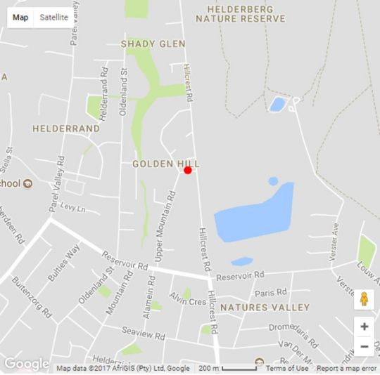 Map Casa Devani in Somerset West  Helderberg  Western Cape  South Africa