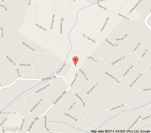 Map Crowhurst in Kloof  Western Suburbs (DBN)  Durban and Surrounds  KwaZulu Natal  South Africa