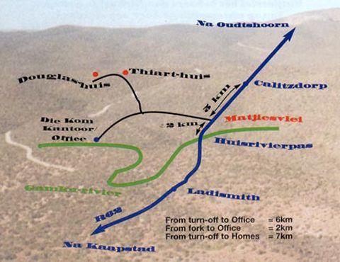 Map Matjiesvlei Guest Farm in Calitzdorp  Klein Karoo  Western Cape  South Africa