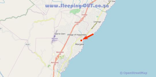Map Granada 104 in Margate  South Coast (KZN)  KwaZulu Natal  South Africa