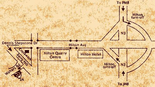 Map Villa  Santuario Guest House in Hilton  Pietermaritzburg  Midlands  KwaZulu Natal  South Africa