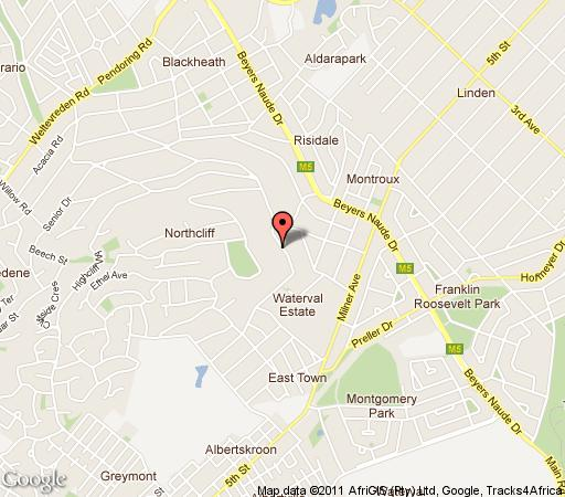Map 12 on Hillel Guest Manor in Northcliff  Northcliff/Rosebank  Johannesburg  Gauteng  South Africa