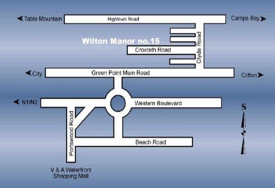 Map Wilton Manor  in Green Point  Atlantic Seaboard  Cape Town  Western Cape  South Africa