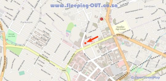 Map Sandton Suites in Morningside (JHB)  Sandton  Johannesburg  Gauteng  South Africa