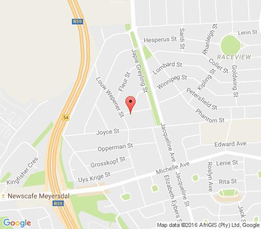 Map La Palma Guest House in Alberante Extension  Alberton  Ekurhuleni (East Rand)  Gauteng  South Africa