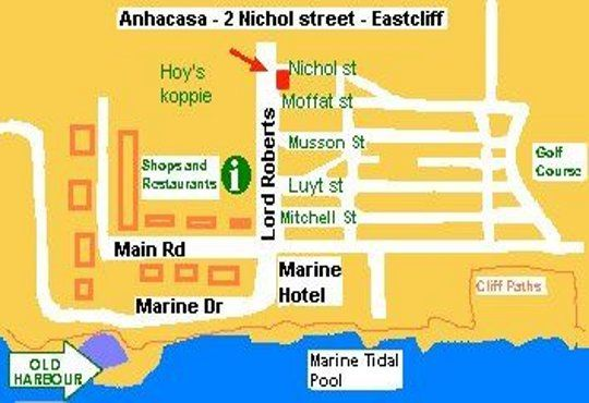 Map Anha Casa Guest House in Hermanus  Overberg  Western Cape  South Africa