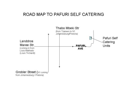 Map Pafuri Self Catering in Polokwane  Capricorn  Limpopo  South Africa