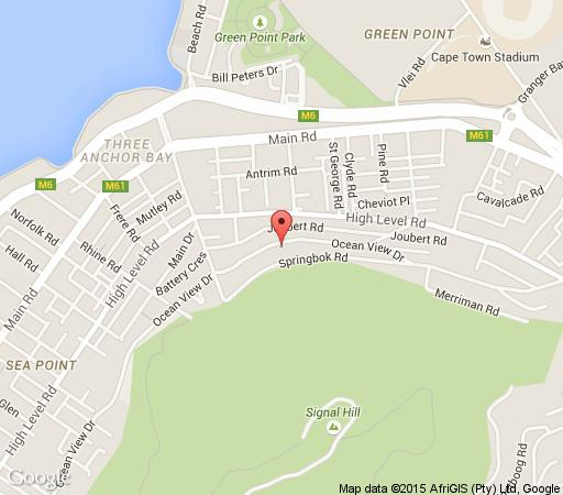 Map 121 Ocean View Drive Studio Apartment in Green Point  Atlantic Seaboard  Kapstadt  Western Cape  Südafrika