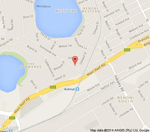 Map Villa Victoria Executive Guest House in Benoni  Ekurhuleni (East Rand)  Gauteng  South Africa