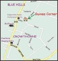 Map Guinea Corner in Blue Hills  Midrand  Johannesburg  Gauteng  South Africa