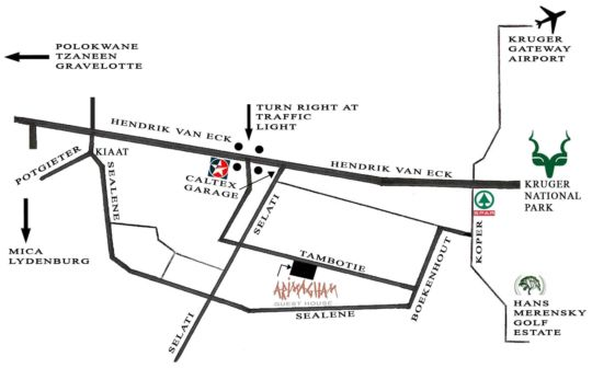 Map Arimagham Guest House in Phalaborwa  Valley of the Olifants  Limpopo  Südafrika