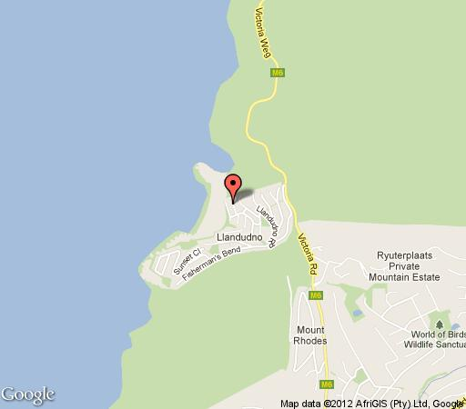 Map San Toy in Llandudno  Atlantic Seaboard  Cape Town  Western Cape  South Africa