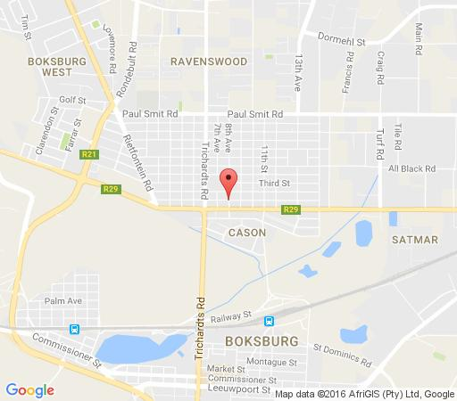 Map Fly Inn Lodge in Boksburg  Ekurhuleni (East Rand)  Gauteng  South Africa
