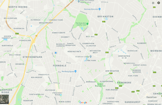 Map Fern Glen Suites in Ferndale  Randburg  Johannesburg  Gauteng  South Africa