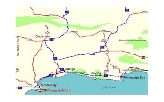 Map Pinnacle Point Golf Villa in Mossel Bay  Garden Route  Western Cape  South Africa