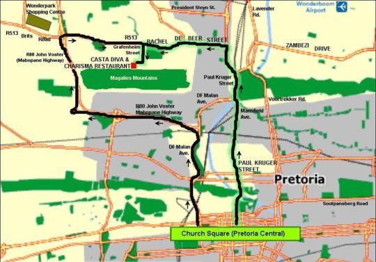 Map Casta Diva in Akasia  Pretoria North  Pretoria / Tshwane  Gauteng  South Africa